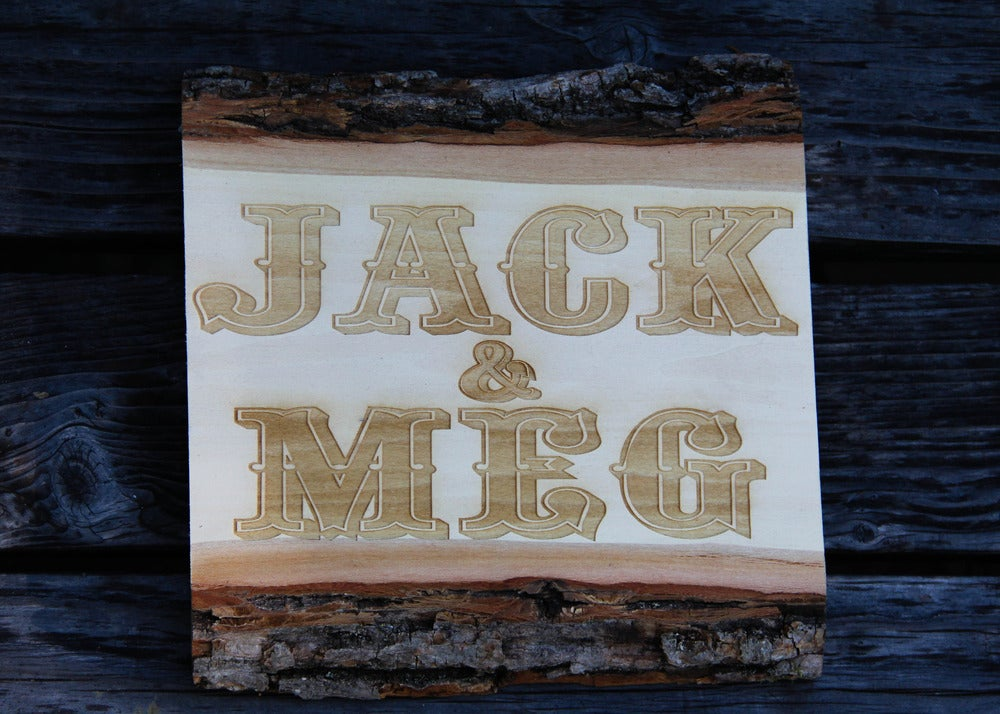 Image of Live Edge Wood Sign