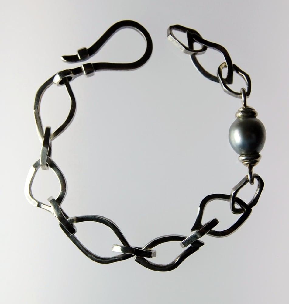 Image of Tratti Perle link Bracelet