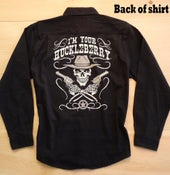 Image of Limited Edition I'm Your Huckleberry Long Sleeve Dress Shirt - Black