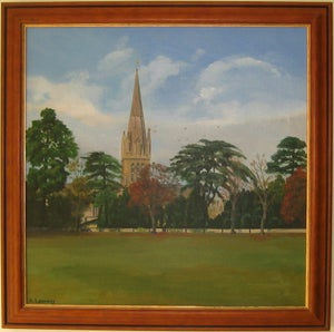 Image of St Mary's, Witney, from the Leys