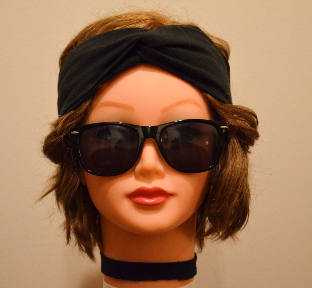Image of Solid Black Turband Headwrap