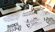 Image of Bob Dylan´s HAND LETTERING EXPERIENCE - GET ALL CARDS FOR FREE!