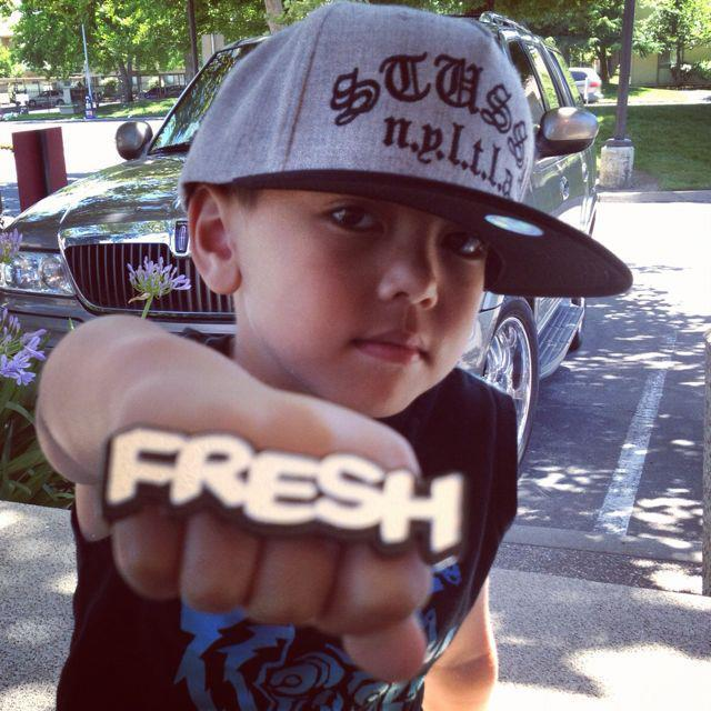 Image of Cheryl's Dope Bold FRESH Graffiti Ring Personalized Double Finger