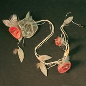Image of T59  Silver Rose Necklace with Bellflowers