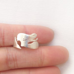 Image of The Little Mermaid - Handmade Sterling Silver Ring - sea creature