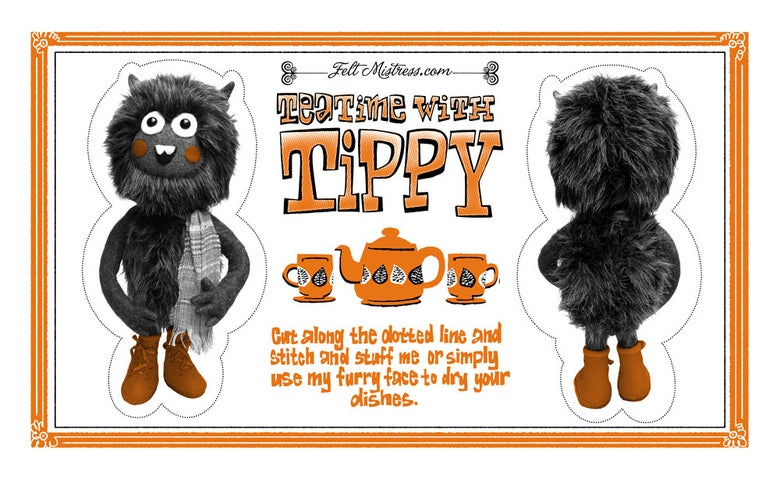 """Image of """"Teatime With Tippy"""" Tea Towel"""