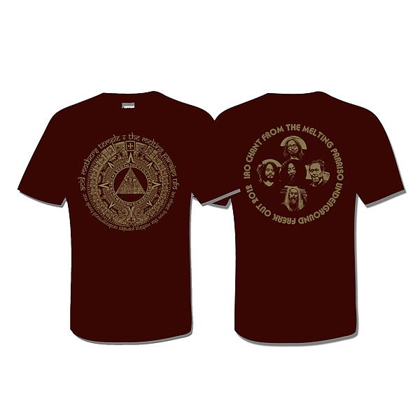 ACID MOTHERS TEMPLE 'IAO Chant 2012' T-Shirt (Brown)
