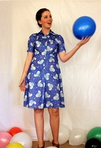 Image of 1970's 'Away with the clouds' dress