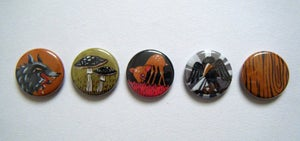 Image of * SOLD OUT* 5 Pin Button Badge Pack: Fickle Forest