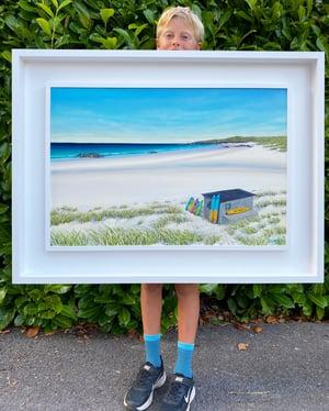 Image of Balevullin surf Tiree giclee print