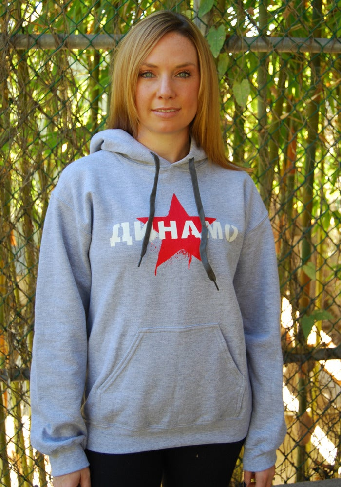 Image of Dinamo Contrast Pull-Over Hoodie (Grey/Black)