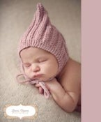 Image of Newborn Baby Pixie Bonnet Knitted Hat
