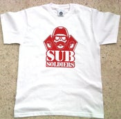 Image of Sub Soldiers White/Red Mens T-shirt