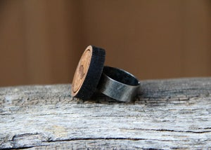 Image of Wood Mustache Ring