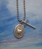 Image of SAINT SINGLE + CROSS necklace