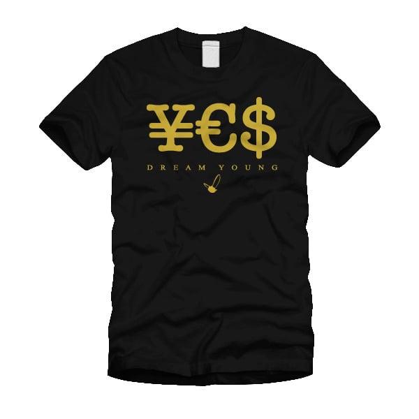 "Image of ""¥€$"" BLACK/TEE"