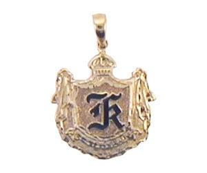 Image of Initial Crest Pendant