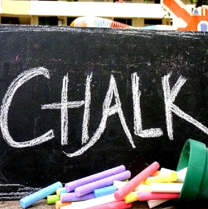 rustic wooden chalkboard  (30 X 20 cm)