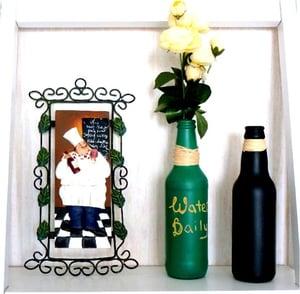 chalkboarded beer bottle