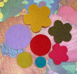 Image of Wool Felt Shapes made from reclaimed woollen jumpers