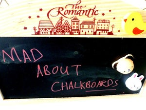 romantic chalkboard