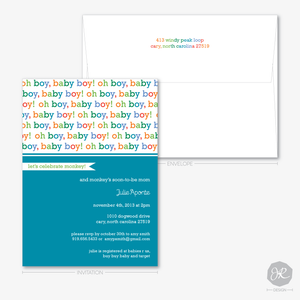 Image of Oh Baby! Baby Shower   Invitations