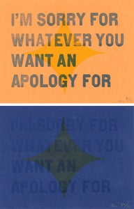 "Image of ""Apology"" Letterpress Card"