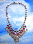 Image of BEADED BLESSING necklace RED