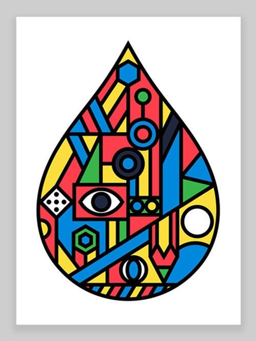 Image of Raindrop Giclée print (No.2) on 310gsm Somerset Velvet Paper