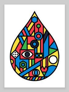 Image of Raindrop Giclée print (No.2) on 310gsm Somerset Velvet Paper - SOLD OUT