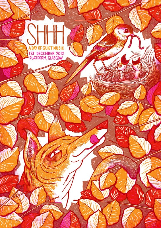 Image of Shhh Quiet Music Festival poster - Glasgow