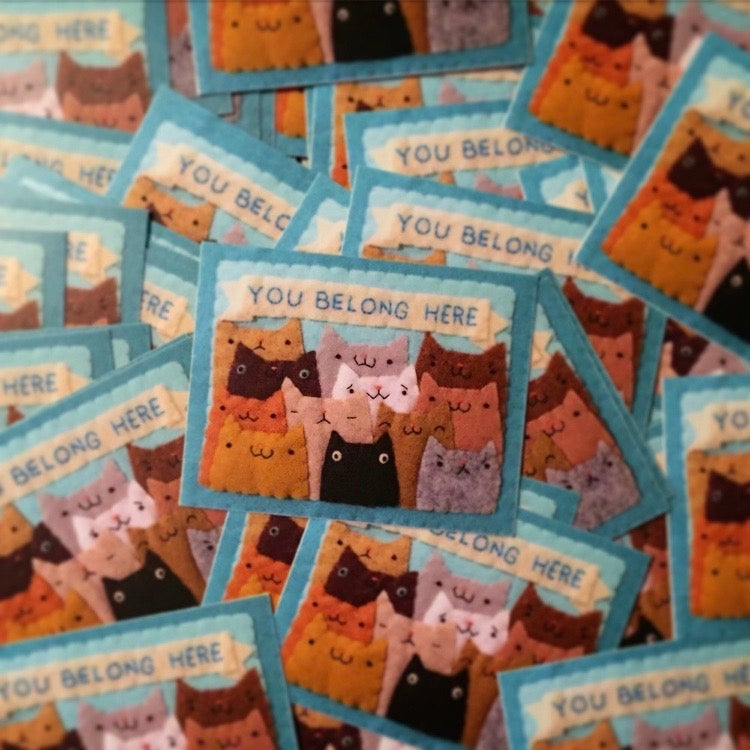 Image of FUNDRAISER you belong here stickers