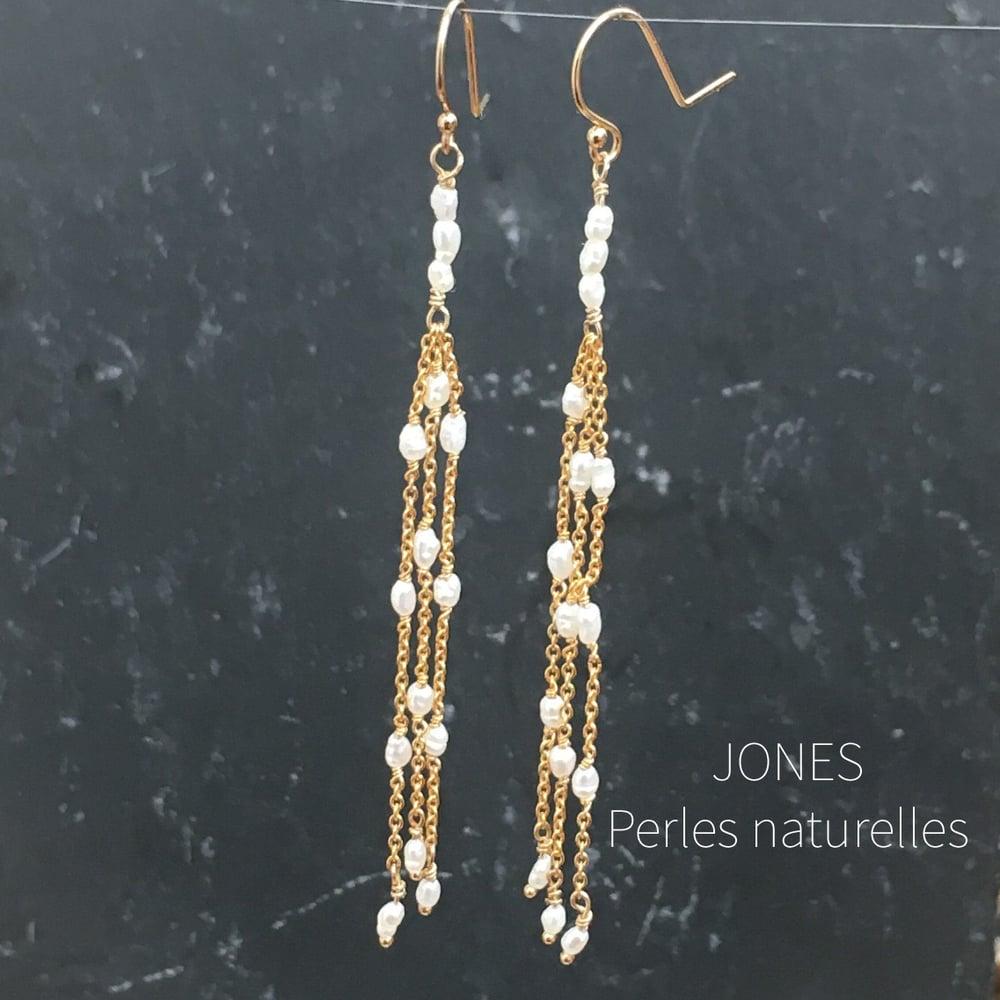 Image of BOUCLES D'OREILLES JONES Perles de culture