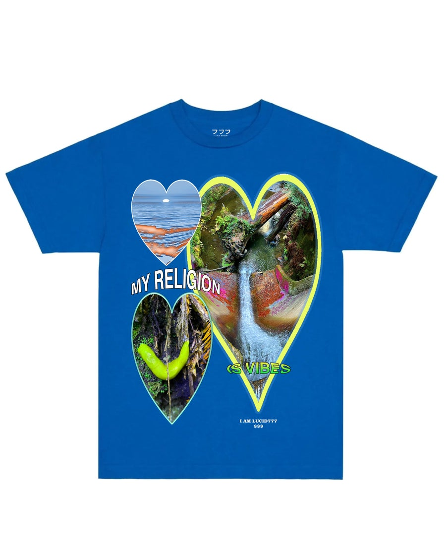 Image of MY RELIGION TEE (BLUE)