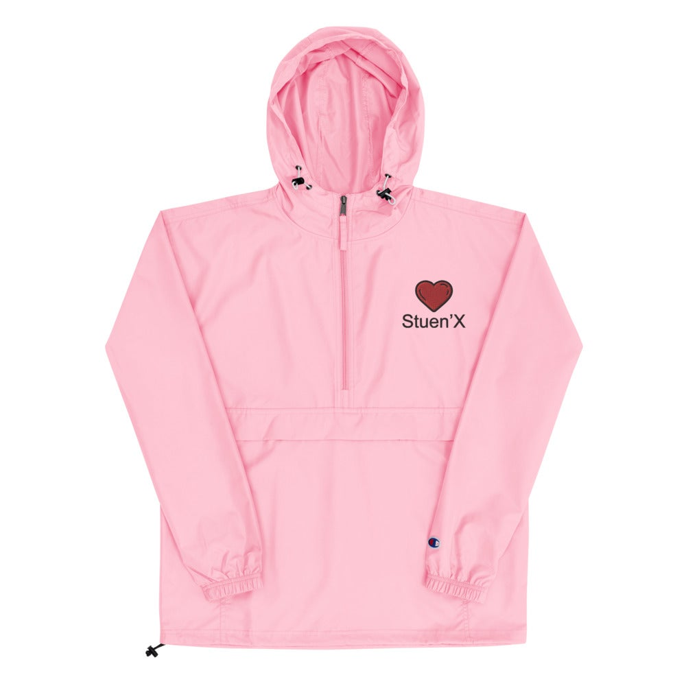 Image of Stuen'X Cares Heart Embroidered Champion Packable Jacket