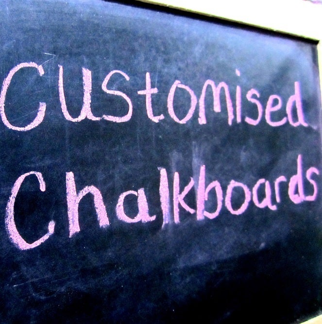 Image of customised chalkboards - ask us!