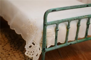 Image of Metal Victorian Doll Bed Blythe Playscale Antique Style