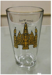 Image of Green-Wood Cemetary front gate Pint Glass