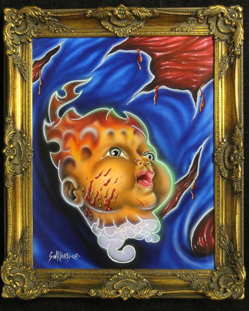 Image of original painting BURN BABY BURN