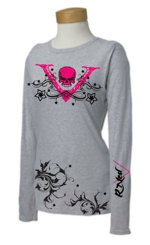 "Image of Ladies GREY ""V-Unit"" Long Sleeve Shirt"