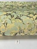 Marbled Paper Slate & Lemon Fabriano Tiziano - 1/2 sheets