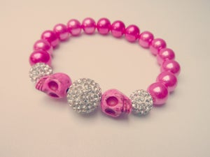 Image of Skull and Crystal Bracelet