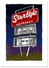 Starlight Drive-in sign at Night - Digital Print
