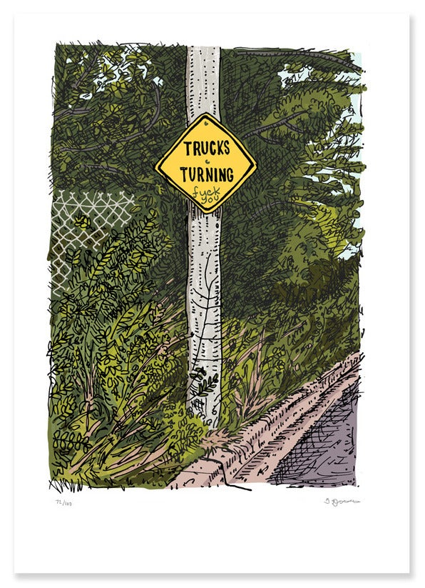 Image of Trucks Turning, Kingston Limited Edition Digital Print