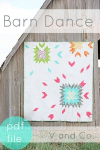 Image of Barn Dance Quilt Pattern- PDF FILE