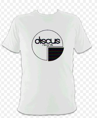Image of White Standard Discus Logo T-Shirt