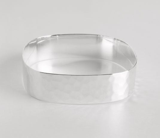 Image of SQUARE BANGLE-HAMMERED