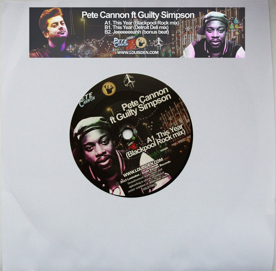 Image of Pete Cannon feat Guilty Simpson - This Year Ltd Hand Numbered 7""