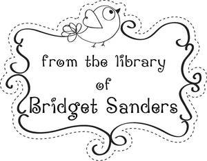 Image of Library of ...Bird with scroll frame Custom Rubber Stamp