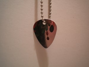 Image of Guitar Pick Necklace- falling into mirror